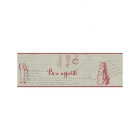 Frise Recettes beige et rouge - Bon Appétit - Caselio
