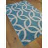 Tapis bleu à motifs ACCENT - Balta