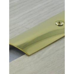 0,73mx30mm Barre de seuil laiton - à visser plate - DINAC