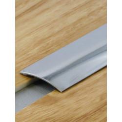 2,70mx30mm - Barre de seuil inox brillant - adhésive plate - Presto - DINAC