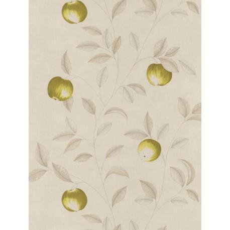 Papier peint Guirlande de Pommes vertes - Bon Appétit - Caselio