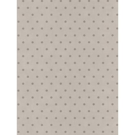 Papier peint Pois gris taupe - Bon Appétit - Caselio