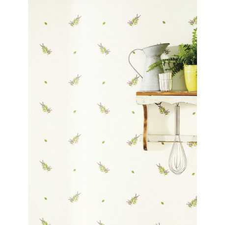 Papier peint Herbier blanc - BON APPETIT - Caselio - BAP68375001