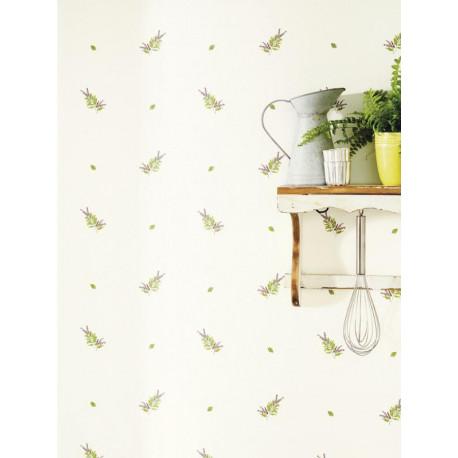 Papier peint Herbier blanc - Bon Appétit - Caselio