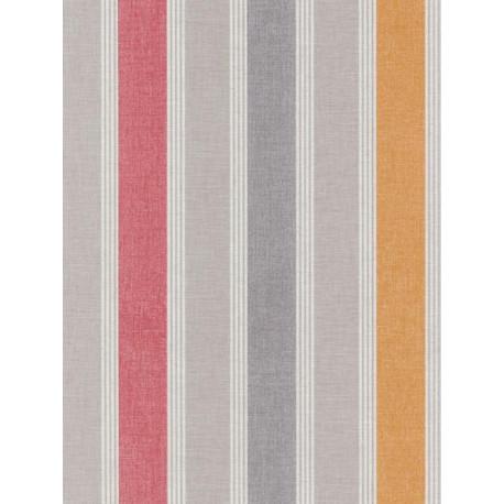 Papier peint à rayure matelas rose- SWING - Caselio