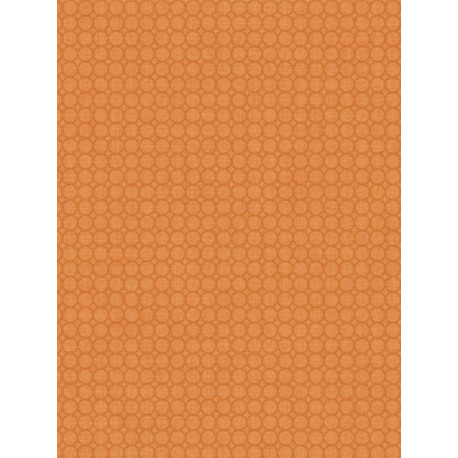 Papier peint à motif Semi Allover Orange - SWING - Caselio