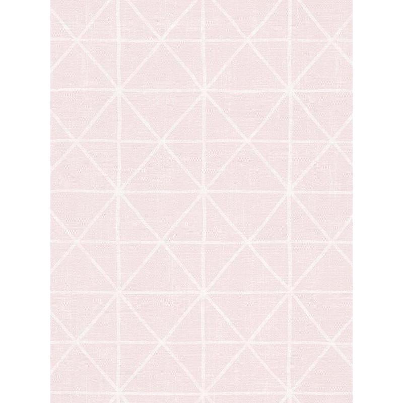 papier peint graphique motif losange sur fond rose