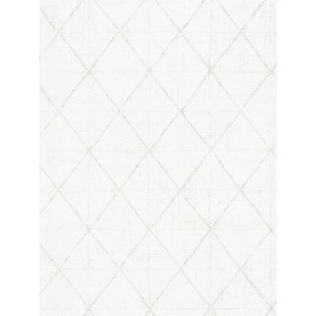 Papier peint intissé graphique blanc - AS CREATION