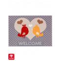 Paillasson imprimé Oiseaux Welcome - Happy Home - Astra