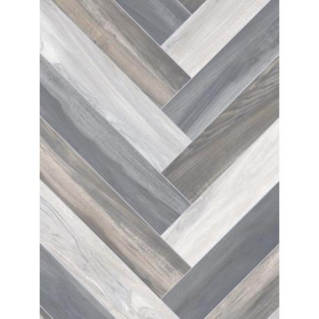 Revêtement PVC - Largeur 4m - Chevrons gris - Beauflor Novo Venice Tile 961M