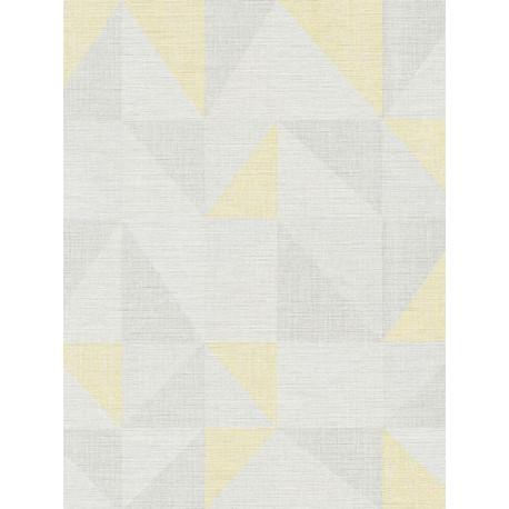 Papier peint intissé scandinave triangle jaune/gris - BJORN - AS CREATION