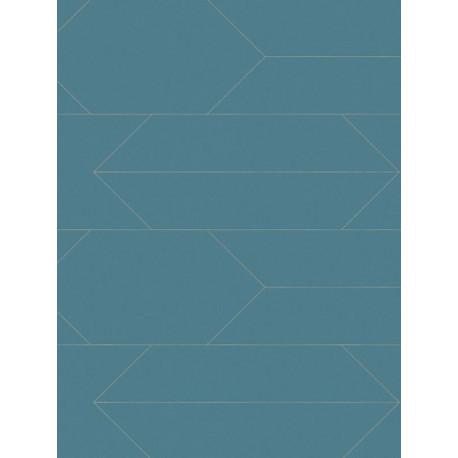 Papier peint Graphique bleu canard - BJORN - AS Creation - 34868-3