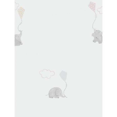Papier peint Eléphants rose - MY LITTLE WORLD - Casadeco - MLW29734231