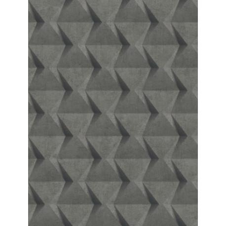 Papier peint intissé Relief béton gris anthracite - TONIC Caselio