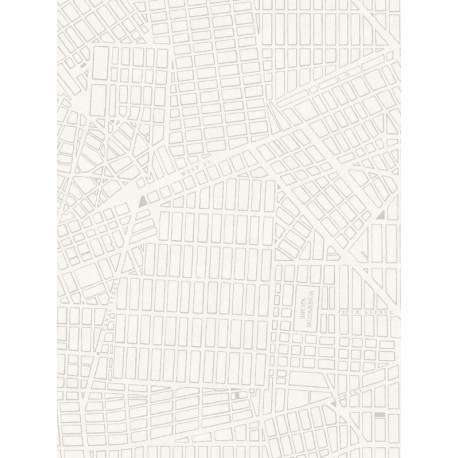 Papier peint intissé Plan New-York gris - TONIC Caselio