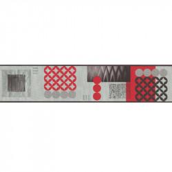 Frise moderne géométrique rouge et gris - Lutèce