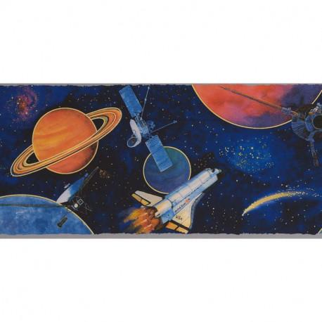Frise Planètes et Satellites dans l'Espace - Lutèce