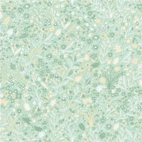 Papier peint 1001 pattes vert pastel - Smile - Caselio