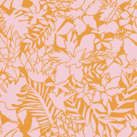 Papier peint Jungle rose et orange - Smile - Caselio