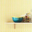 Papier peint FLOWER POWER jaune  - Smile - Caselio