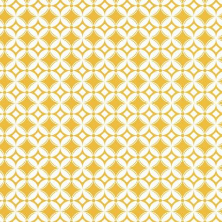 Papier peint carreaux rétro jaune  - Smile - Caselio