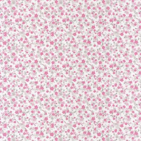 Papier peint Lily rose gris, PRETTY LILI, CASELIO