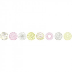 Frise, Rond graph , vert et rose, PRETTY LILI, CASELIO