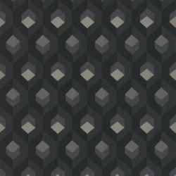 Papier peint Hexacube noir et gris - HELSINKI - Casadeco