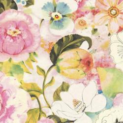 Papier peint fleuri, multicolore - Lucy in the sky - Rasch