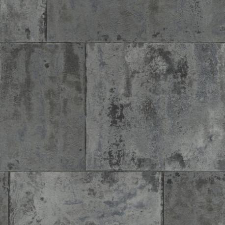 Papier peint 939729 métal gris anthracite  - Factory III - Rasch