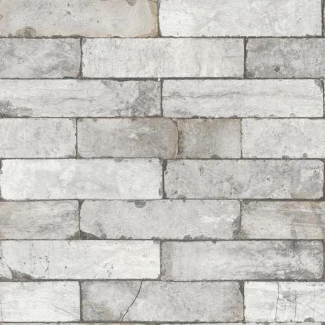 Papier peint imitation brique  - Factory III - Rasch