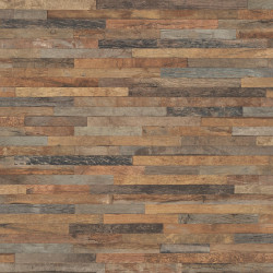 Papier peint patchwork de bois marron - Factory III - Rasch