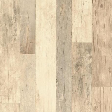 Papier peint planches de bois foncé - Factory III - Rasch