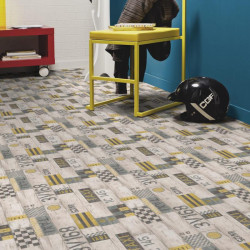 Revêtement PVC - Largeur 2m - Exclusive 300 Play - Taxi jaune et noir - Tarkett