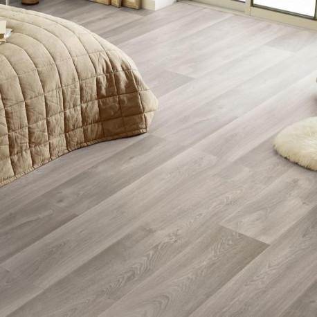 Revêtement PVC - Largeur 4m - Exclusive 300 CONCEPT SEASONS - Tarkett - Imitation parquet gris beige - Admiral Grege