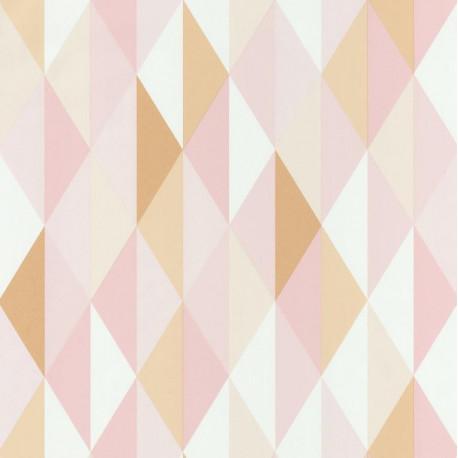 Papier peint Diamond Triangles Rose – SPACES – Caselio