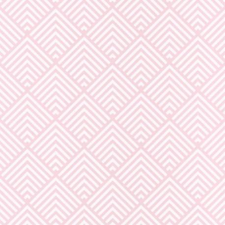 Papier peint Pyramid Triangles Rose – SPACES – Caselio