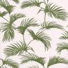 Papier peint Palmes Motifs feuilles de palmier vert sur fond beige – JUNGLE - Caselio