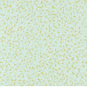 Papier peint Pépins Motifs grains de riz jaune/orangé sur fond bleu/vert – JUNGLE - Caselio