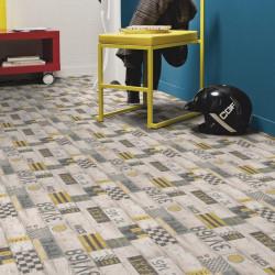Revêtement PVC - Largeur 4m - Exclusive 300 CONCEPT PLAY - Tarkett - Taxi Black Yellow