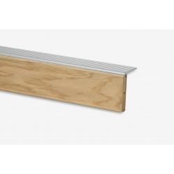 Marche palière + profilé en Aluminium chêne brut 115 - Concept d'escalier Maëstro Steps