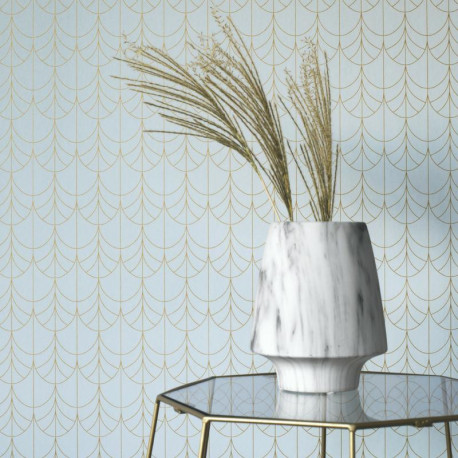 Papier peint Filament bleu - BELLE EPOQUE - Casadeco - BEEP82266129