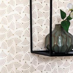 Papier peint éventails ORIGAMI beige- HANAMI - Caselio
