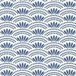 Papier peint motif japonais HAIKU bleu porcelaine - HANAMI - Caselio
