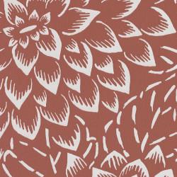 Papier peint floral HANA terracota - HANAMI - Caselio