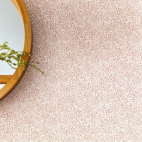 Papier peint floral KONOHA terracota - HANAMI - Caselio