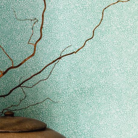 Papier peint floral KONOHA vert amande - HANAMI - Caselio