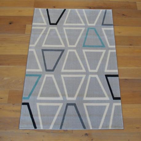 Tapis moderne gris clair à motifs géométriques - Canvas - 2 Tailles.