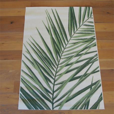 "Tapis tissé ""Tropical feuillage vert écru"" - Star BALTA 140x200"