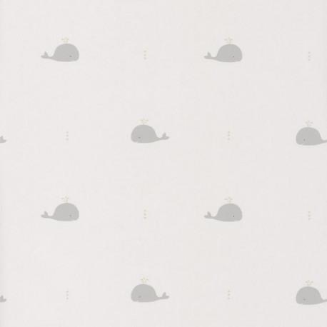 Papier peint intissé Baleines grises - HAPPY DREAMS Casadeco